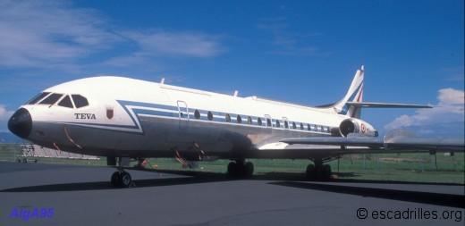 La Caravelle 264 ne vole plus avec l'ETOM en décembre 95