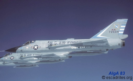 F106A vus en vol en mai 1983
