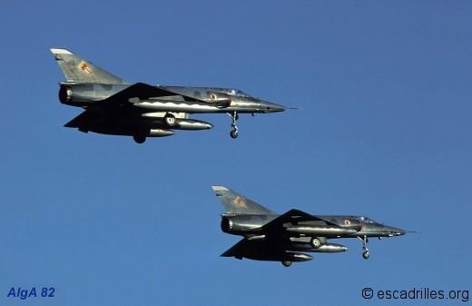 Deux IIIR en finale de la BA-128 en 1982