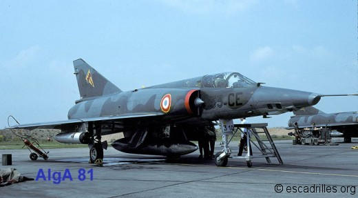 Mirage IIIR 33CE du Belfort vu sur la BA-124 en 1981