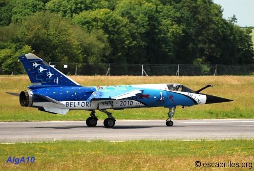 Le F1-CR spécial du Belfort, de retour de son vol le 22 juin