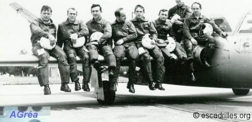 Fouga avec des pilotes
