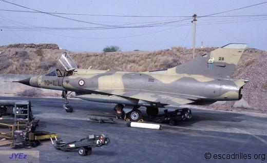 Mirage IIIC vu en 1983