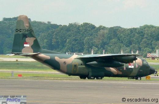 KC-130H du 122 Sqn de Paya Lebar