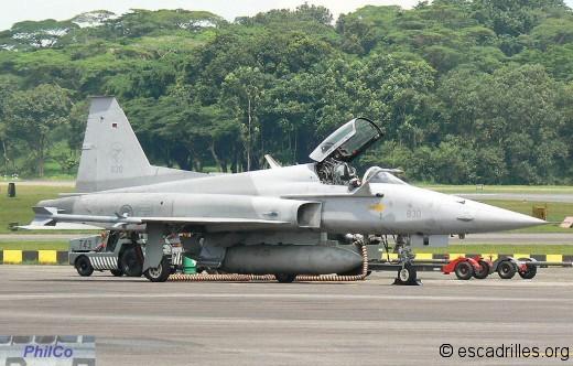 F-5E sn 830 du 144 Sqn de Paya Lebar