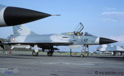 Mirage 2000C du 1/2, côté SPA 103, sur la BA 102 en 1984