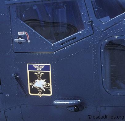 Insigne de la 31F sur un Lynx en 1984