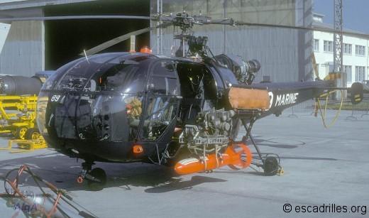 Alouette III de la 34F en 1979 à Landivisiau
