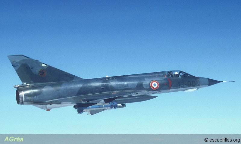 Mirage IIIE du 1/13 en vol 1978