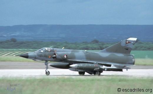 Mirage IIIE du 2/3 en 1988 avec Martel