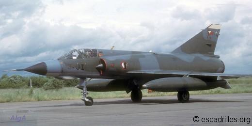 Mirage IIIE en 1988 avec gros bidons