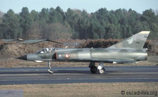 Mirage IIIE du 3/3 en 1990