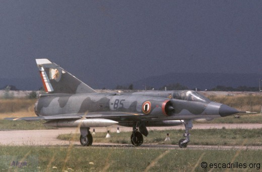 Mirage IIIE en configuration légère, en 1973