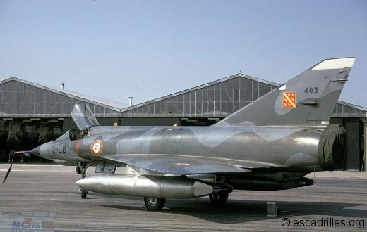 Mirage IIIE du 3/2 en 1974 (configuration 1300 l)