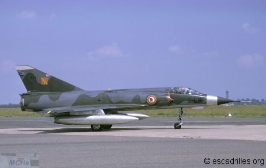 Mirage IIIE de l'Alsace vu en 1974 (configuration 1300 l)