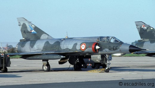 Mirage IIIE du Cigognes vu en 1981 à Cambrai
