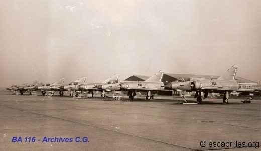 Arrivée de Mirage IIIE à Luxeuil en 1966