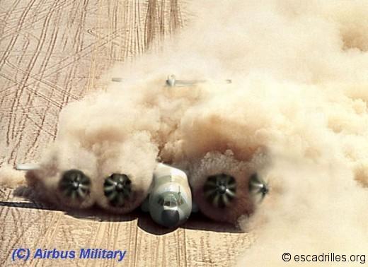A400M aime la poussière