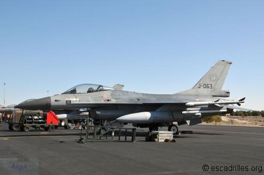 Un des quatre F-16AM de Volkel