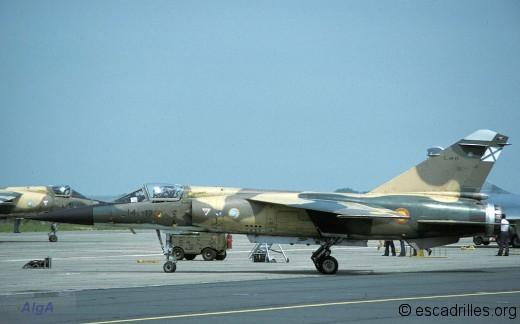 F-1CE 141-17 au retour de la mission à Cambrai en 1986