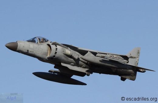 Harrier AV-8B+ au décollage le 8 février