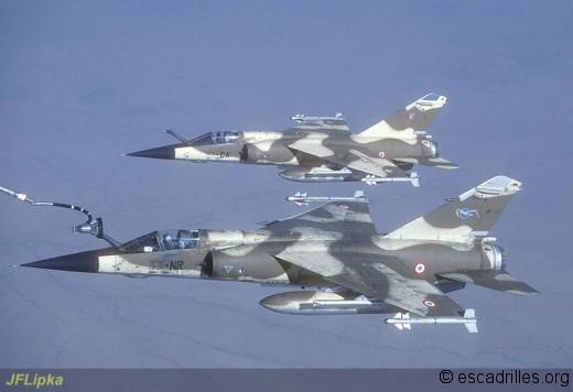 F-1CR du 1/33 et du 2/33 vu au-dessus du Tchad en 1988