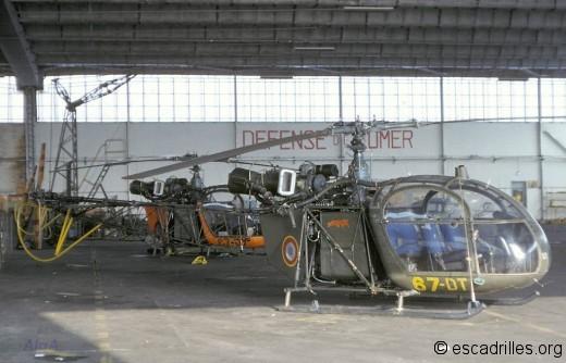 """Pyrénées"" sur Alouette II"
