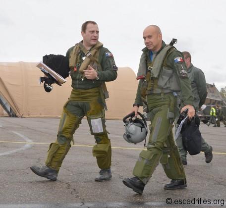 Le lieutenant-colonel Vinot-Préfontaine et le capitaine Delattre