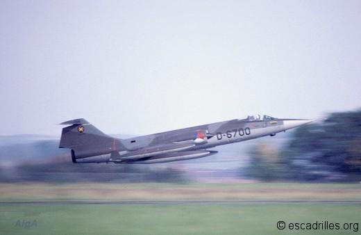 F-104G décollant de la BA 128 en 1977