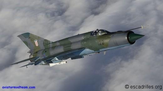 MiG-21 Croatie 122