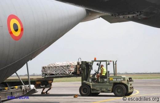 C-130H Belge partipant à l'opération Serval