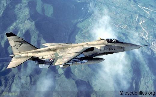 Jag sable A107 11-MV au dessus de la Bosnie 02/93