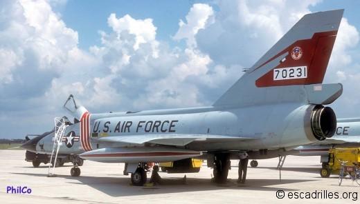 F-106A du 87è FIS vu en 1978 à Tyndall
