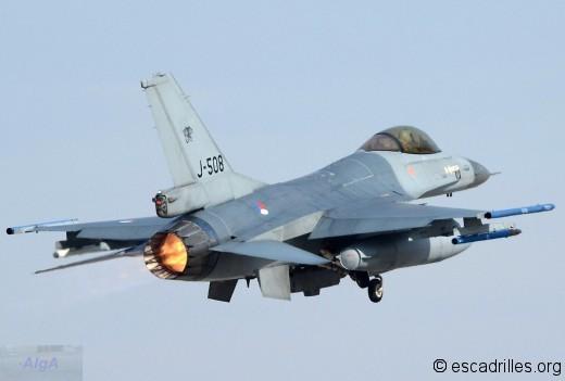 Le potentiel de la flotte de F-16 de la KLu a beaucoup décru: restent 3 escadrons