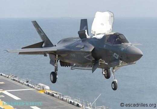 F-35B en cours d'appontage: une mécanique ultra-compliquée