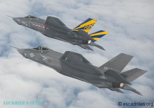 Le F-35C, le plus endurant des trois avec ses grandes ailes