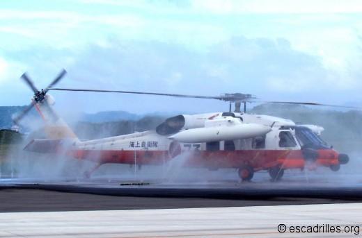 Un USH-60 se fait rincer les plumes