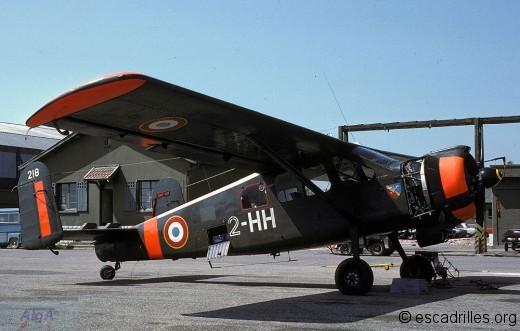 Le « 2-HH » n°218 de la 2è EC vu en 1984 - l'insigne de la SALE a connu plusieurs versions différentes