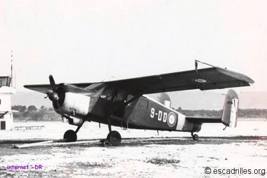 Broussard « 9-DD » n°290 à Cuers. Il  fut affecté à la « 9 » de juillet 1963 à janvier 1964, date à laquelle il fut transféré à l'ELA55 de Lahr