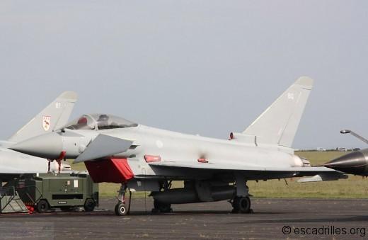 Typhoon de la RAF, la peinture grise tient mieux que sur les Rafale