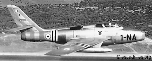 F-84F du 1/1 Corse
