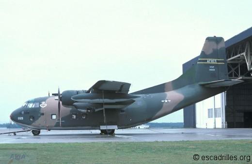 Un C-123K vu en 1978