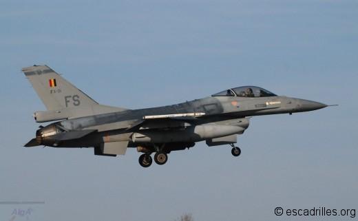 La Belgique conserve aujourd'hui 3 escadrons opérationnels de F-16 .