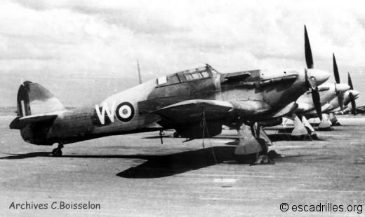 Hurricane du CIC Meknes en 1945-46
