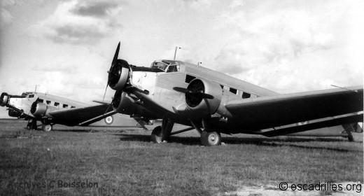 Junkers 52 du GT III/15 Maine en 1945-46