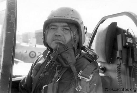 Jean Merlet fut aussi commandant d'escadrille au 1/20, sur Skyraider