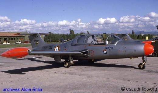 MS760 n°36 «316-DH» du GE316 ENOSA. Au second plan le n°75 «316-DK» tous les deux faisaient partie du premier lot perçu en 1993