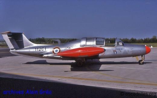 n°65 « 112-CI » de la BA112 été 1997. On devine le triangle effacé de l'insigne du CEAM où l'appareil volait avant d'être affecté à Reims