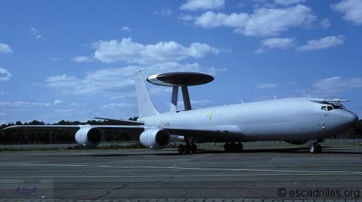Le premier E-3 français, vu à Marsan en septembre 1991