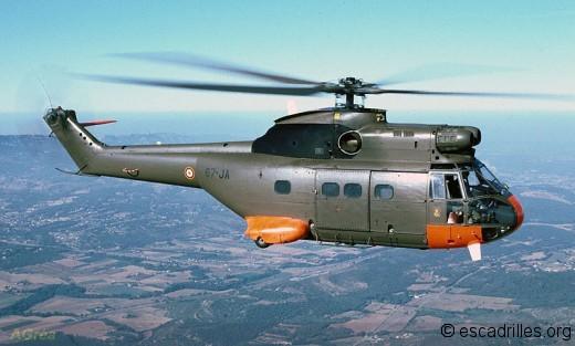 Les Puma de l'Armée de l'Air (ici de l'EH 5/67) sont destinés à battre des records de longévité